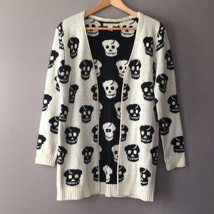 Love By Design Skull Cardigan Sweater